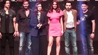 Baadshaho Team Grand Entry At Trailer Launch | Ajay Devgn, Ileana D'Cruz, Emraan Hashmi, Esha Gupta