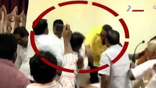 TDP activists in a scuffle in a council meeting in Guntur