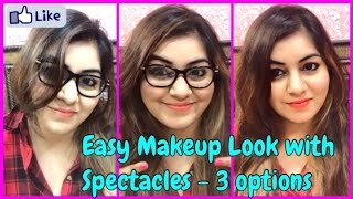 Makeup For Spectacles/Glasses Wearers in 3 minutes with 3 products | JSuper Kaur