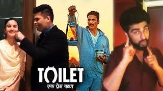 Alia Bhatt, Karan Johar & Arjun Kapoor Promotes Akshay's Toilet Ek Prem Katha