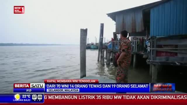 Kapal Kayu Pembawa WNI Tenggelam di Lepas Pantai Malaysia