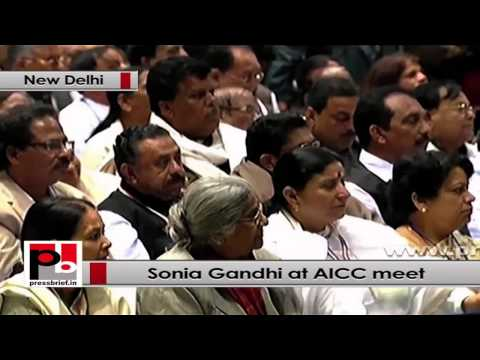Sonia Gandhi at AICC Session talks about UPA policies for women empowerment