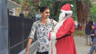 Santa Kissing Prank India - Getting Kiss/Hug From Strangers Christmas 2017 | TamashaBera