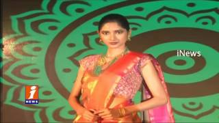 Kanchipuram Sarees Fashion Show at Promotional Event in Hyderabad | iNews