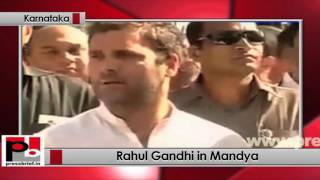 Karnataka - Rahul Gandhi holds padayatra, meets and comforts distressed farmers Politics Video