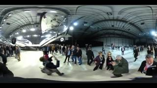360-degree walk around of the VSS Unity — with a special Star Wars guest! News Video
