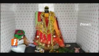 Robbery in Poleramma Temple at Gowada Village | Prakasam | iNews