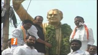 Cong Komatireddy Venkat Reddy Pay Tribute To Rajiv Gandhi  26th Death Anniversary  Nalgonda   iNews