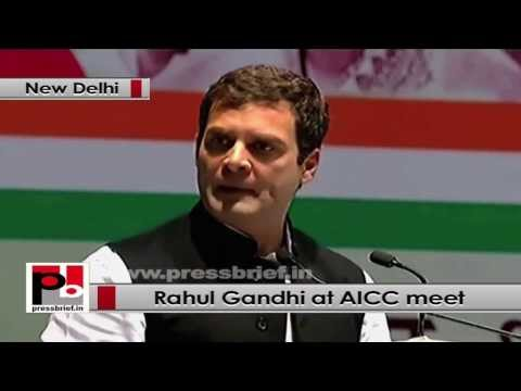 Rahul Gandhi at AICC meet highlights UPA policies to empower people