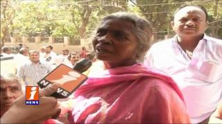 Notes Ban | Customers Face Problems With Bankers | No Cash Board | iNews