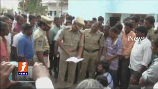 School Bus Hits Kid At Nagarkurnool district | Spot Dead | Telangana | iNews
