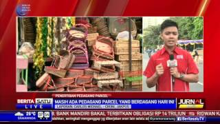 Pedagang Parcel Musiman kembali Menggelar Lapak di Trotoar Cikini