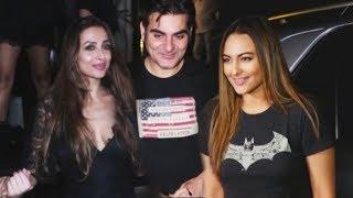 Arbaaz Khan, Malaika Arora And Sonakshi Sinha PARTY HARD At Arth Restaurant