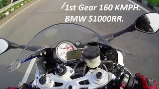 1st Gear 160 KMPH. BMW S1000RR. Yamaha R3, KTM RC390 Ride.