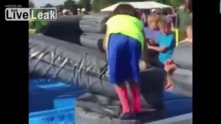 Funny Video: Kid Fails At Obstacle Course