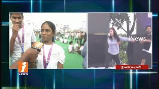 Huge People Participate In Freedom Hyderabad 10K Run At Hussain Sagar | iNews