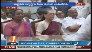 Opposition Candidate Meira Kumar Files Nomination For President Election | iNews