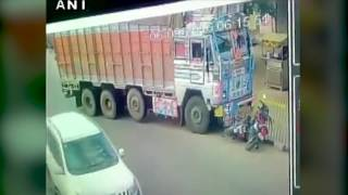 Watch- Collision between a lorry and two bikes in Medchal (Hyderabad)