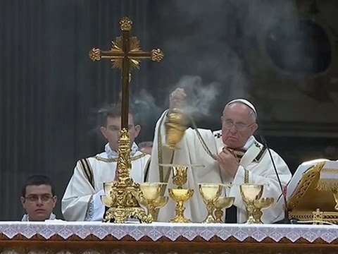 Raw- Pope Francis Leads Easter Vigil Service News Video