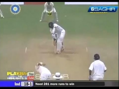 Rahul Dravid Awesome DEFENCE FOR 4 !! ** Must Watch ** - Cricket Classic Video