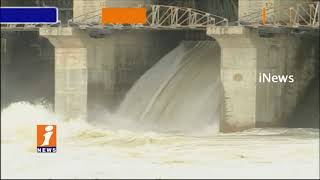 Heavy Rainfall In Telangana | All Projects And Rivers Filled With Flood Water | iNews