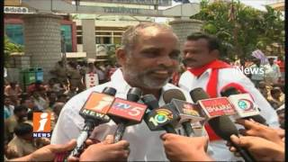 Tirupati Auto Unions Protest At Municipal Office For Auto Stand | iNews