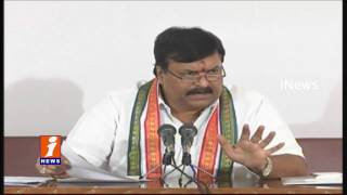 Ponguleti Sudhakar Reddy Press Meet Against Sagar And Indira Sagar Project Cancellation | iNews