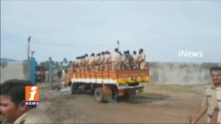 High Tension at Tundurru as Police Arrest Mega Aqua Food Park  Protesters   West Godavari   iNews