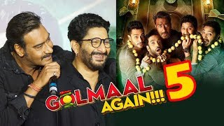 Ajay Devgn ANNOUNCES Golmaal 5 | Golmaal Again Trailer Launch