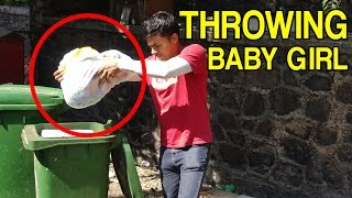 Throwing Baby Girl In Dustbin - (Social Experiment)