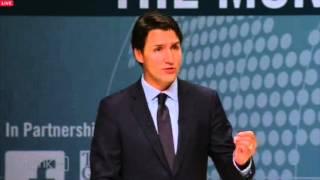 Justin Trudeau at the Munk Debate: Highlights