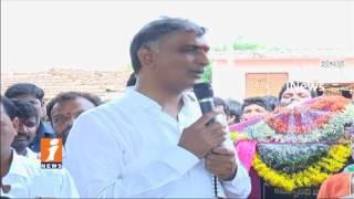 Minister Harish Rao Padayatra In Pragnapur | Lay Foundation Stone For Development Works | iNews