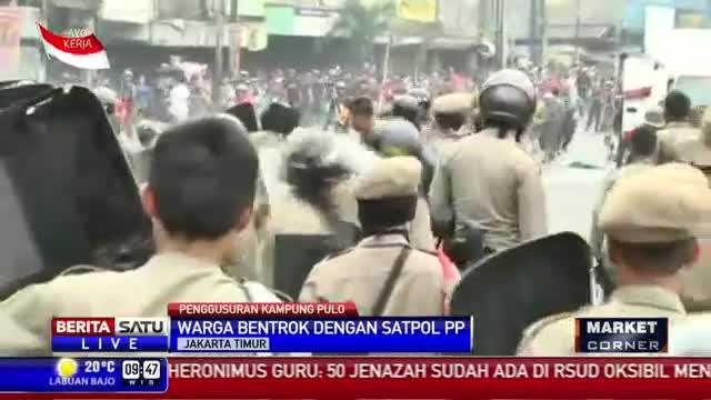 Breaking News: Pembongkaran Bangunan di Kampung Pulo Berujung Rusuh