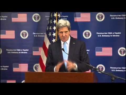 Kerry- Russia Should De-escalate in Ukraine News Video