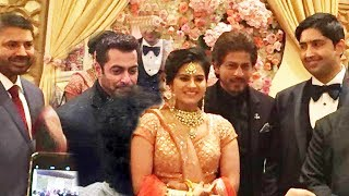 Salman And Shahrukh Attends BJP Minister Ravi Shankar Prasad's Daughters Wedding Reception