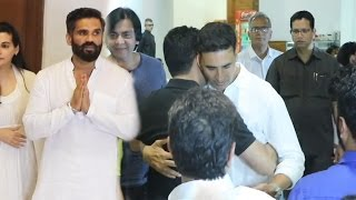 Akshay Kumar At Suniel Shetty's Father Veerapa Shetty's Prayer Meet