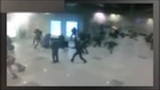 FIRST FOOTAGE LAST MOMENT Brussels airport  (RAW VIDEO)