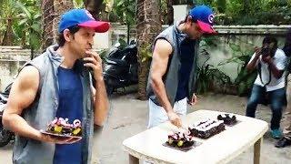 Hrithik Roshan CUTS His Birthday Cake - 44th Birthday Celebration With Media