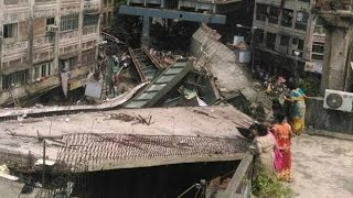CCTV captures Kolkata flyover collapse - News Video