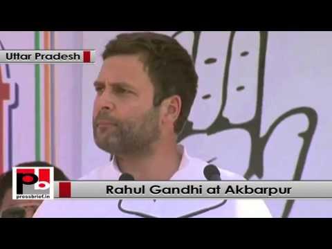 Rahul Gandhi in Akbarpur (UP)- BJP has just one agenda -- to make Modi the PM