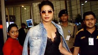 Gorgeous Priyanka Chopra SPOTTED At Mumbai Airport