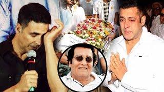Salman Khan & Akshay Kumar GETS EMOTIONAL At Vinod Khanna's  D€ATH