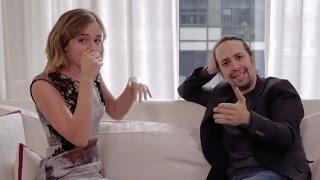 Emma Watson & Lin-Manuel Miranda BEATBOX For Gender Equality
