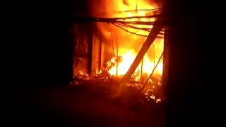 गारमेंट्स शॉप में लगी भीषण आग, लाखों का सामान जलकर खाक