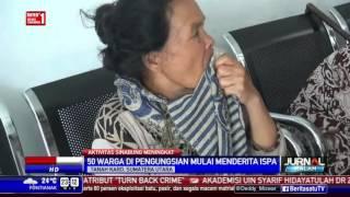 Puluhan Pengungsi Gunung Sinabung Menderita ISPA