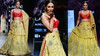 HOT Malaika Arora WALKS The Ramp At Lakme Fashion Week 2017