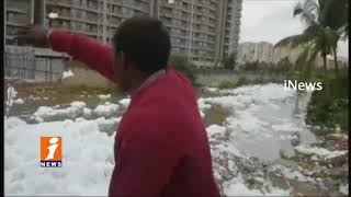 People Suffer With Toxic Chemical Foam From Bellandur Lake After Rains | Bangalore | iNews