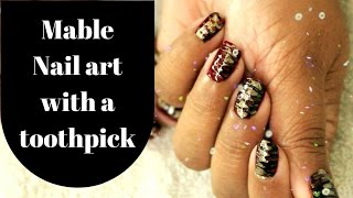 EASY MABLE NAIL ART (without water)