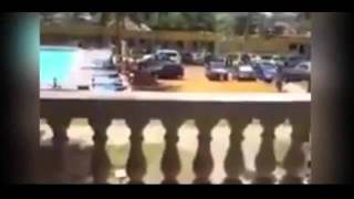 Ivory Coast hotel shooting: Chilling footage shows moment people flee as gunmen open fire on resort
