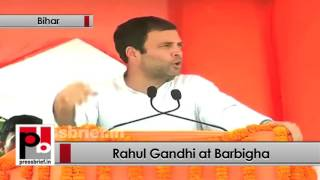 Bihar - Rahul Gandhi addresses Congress poll rally Barbigha, targets PM Modi Politics Video